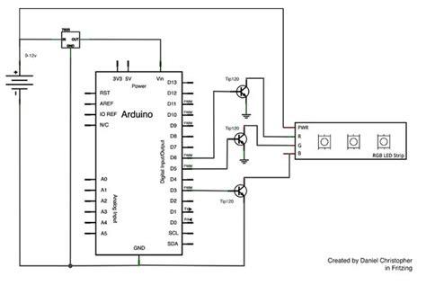 rgb led circuit diagram rgb led circuit with arduino all