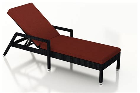 Urbana Outdoor Wicker Reclining Chaise Lounge Henna