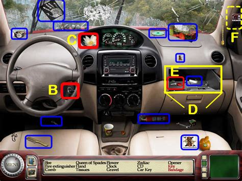 Interior Of A Car Labeled by Detective Agency 2 Banker S Walkthrough Guide