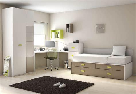 distribucion habitacion juvenil dormitorios juveniles en colores arena