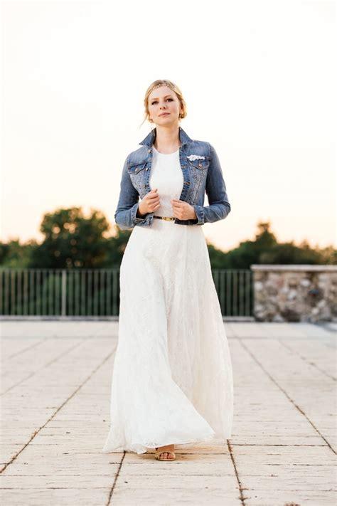 braut jeansjacke brautkleid vintage stil mit transparentem r 252 cken und