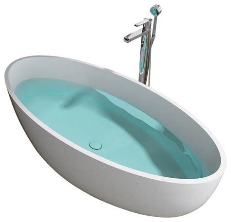 adm matte white stand alone resin bathtub