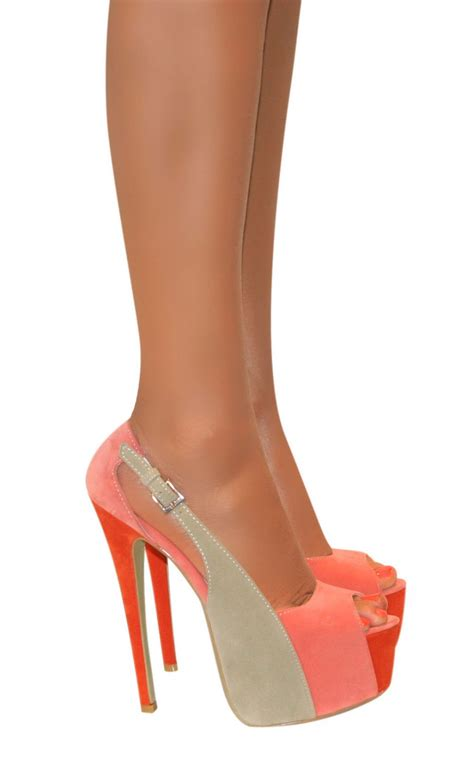 high heels suede platform stiletto high heels slingback peep