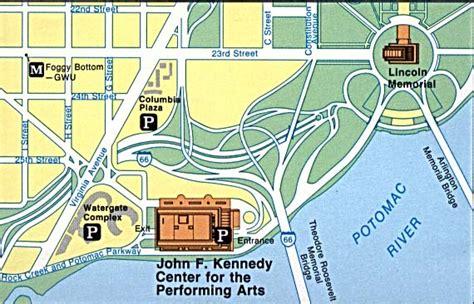 washington dc map kennedy center 1up travel maps of united states u s national parks