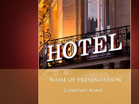 hotel signboard powerpoint template backgrounds 09516