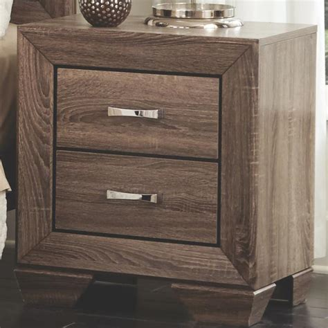 kauffman nightstand with 2 drawers and tapered