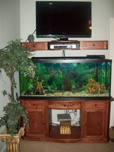 tv shelf and fish tank stand by kjwoodworking