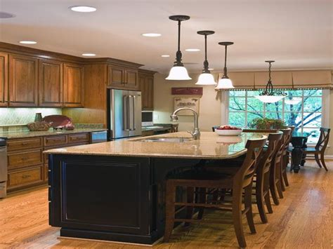 kitchen with island design five kitchen island with seating design ideas on a budget