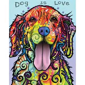 Wall Mural Stencil Kits dog pop art wall sticker decal dog is love by dean russo