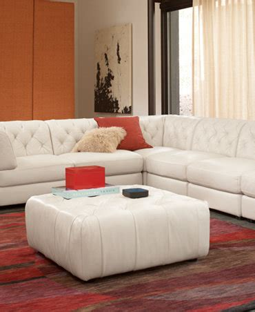 Leather Living Room Sets From Macys Rosario Leather Modular Living Room Furniture Collection