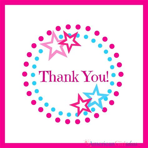 Thank You Gift Card - american girl thank you cards american girl ideas american girl ideas