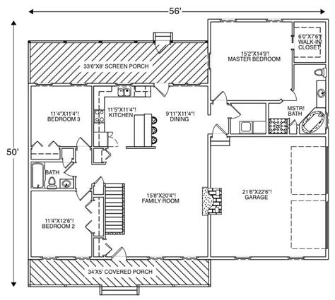 house plan 110 00135 ranch country ranch home with 3 bedrms 1612 sq ft floor