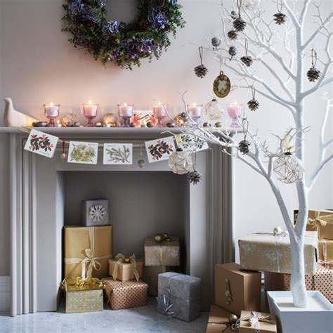living room display living room decorating ideas housetohome co uk mantelpiece card display homemade christmas ideas