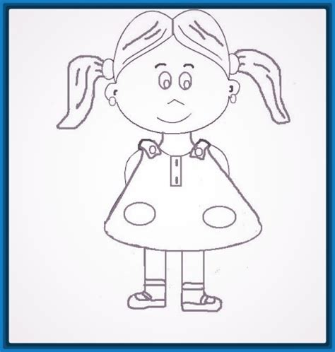 imagenes navideñas para niños colorear dibujo de una nia para colorear trendy dibujo de una nia