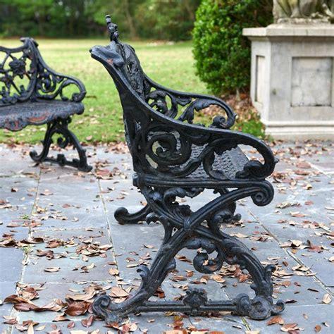 cast iron garden benches uk nice pair antique cast iron garden benches