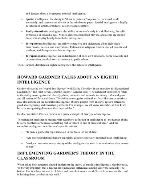 intelligences lesson plan template intelligence lesson plan template sle