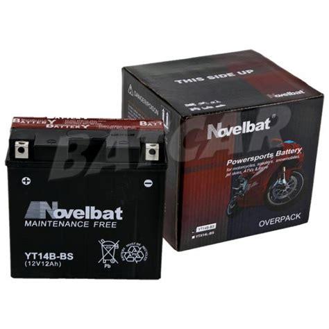 Motorrad Batterie Gs Gt12b 4 by Novelbat Yt14b Bs 12v 12ah Batcar De Shop