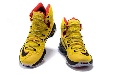 lebron high top sneakers lebron 13 yellow high top shoes