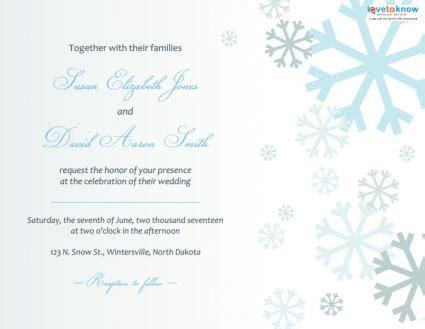 Winter Wedding Invitations Lovetoknow Free Winter Invitations Templates