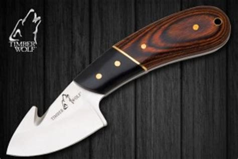 wolf pattern gut knife boreal forest traditional knives timber wolf knives