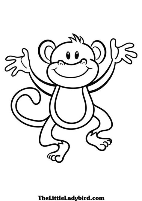 Monkey Coloring Pages To Print monkey coloring pages free printable pictures coloring