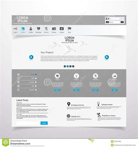 design elements used in a website web design elements templates for website stock photo