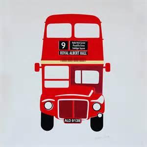 Wall Clock Sticker london bus silkscreen print by made by morris