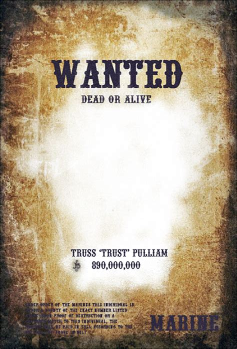 wanted poster template 7 free wanted poster templates psd design
