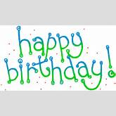 Blue Happy Birthday Banner Clipart | ClipArtHut - Free Clipart