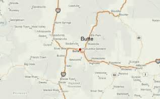 Butte Montana Map by Butte Location Guide
