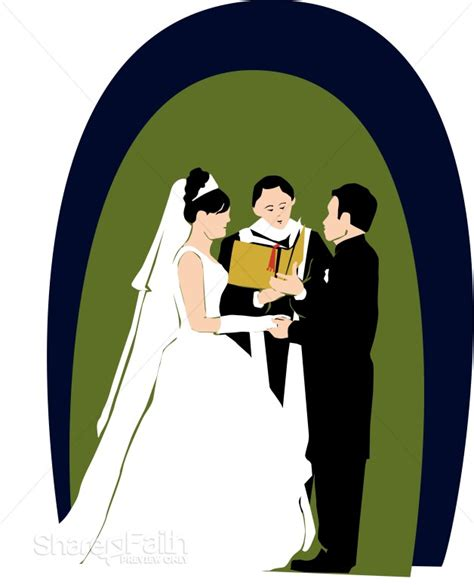 Wedding Officiant Clipart by Wedding Day Vows Christian Wedding Clipart