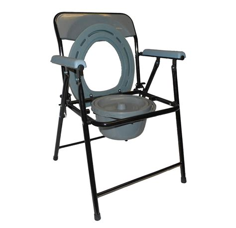 Commode Pot by Lightweight Folding Commode With Top Loading Pot Eccom1