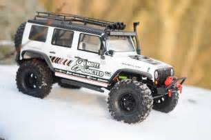 Rc Jeep Wrangler On Snowy Rocks Rc Rctruck Jeep Wrangler Axial