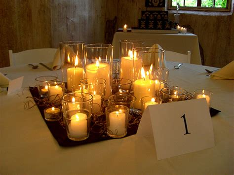 the dream wedding inspirations simple candle wedding centerpieces