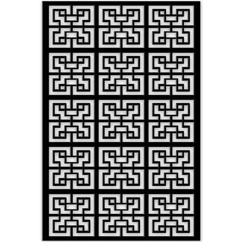 decor home depot acurio latticeworks 1 4 in x 32 in x 4 ft black chinese