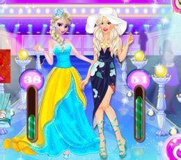barbie ve elsa moda yarışması oyna