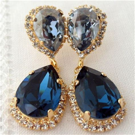 Navy Blue Chandelier Earrings Best Navy Blue Chandelier Earrings Products On Wanelo