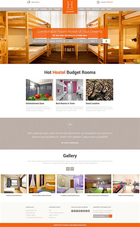 Templates For Hostel Website | joomla hostel template hotthemes