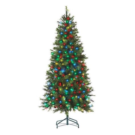 6 pre lit artificial led christmas tree hard needle with