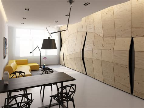 small modern apartment modern small apartment interior plywood wall