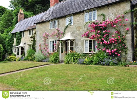 Rural Cottage Holidays by Rural Cottage And Garden Royalty Free Stock Photo Image