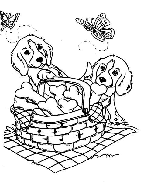 coloring book pages dogs coloring page