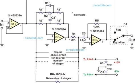 Mixer Equalizer Lifier summing lifier schematic summing mixer schematic