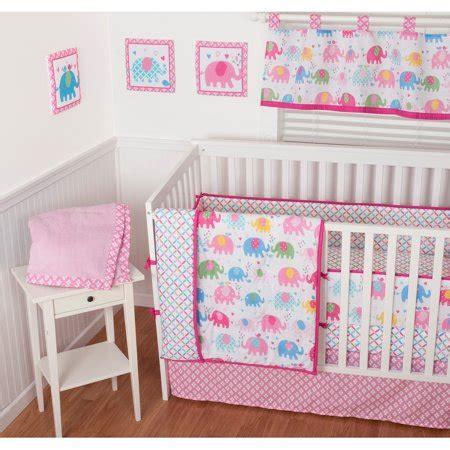 nursery in a bag crib bedding set sumersault elephant parade 9 nursery in a bag crib bedding set with bonus bumper walmart