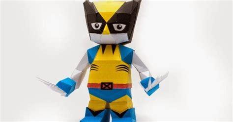 Wolverine Origami - chibi wolverine papercraft papercraft paradise