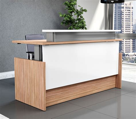 Stand Up Reception Desk Newheights Presidente Reception Desk Sit To Stand Reception Desk By Rightangle Products