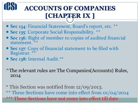 section 132 companies act national seminar on companies act dated 05 07 2014