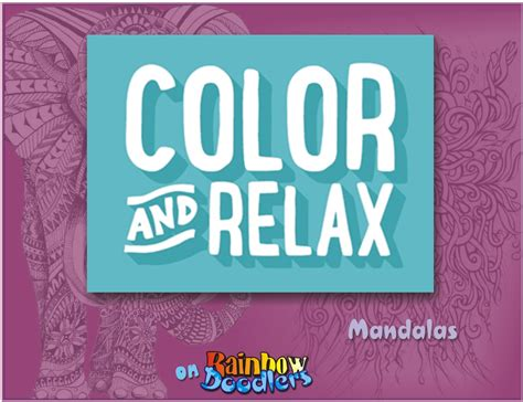 relax and color the color and relax