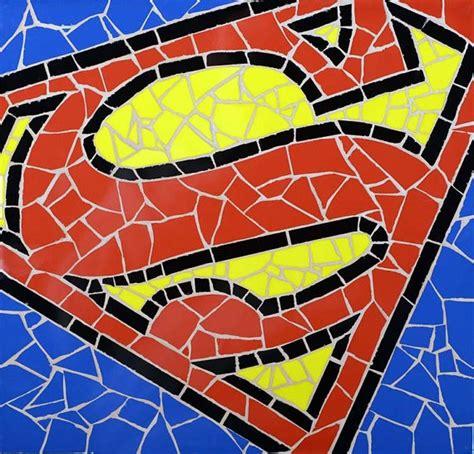 Handmade Mosaic Tiles - superman unique handmade tiles mosaic