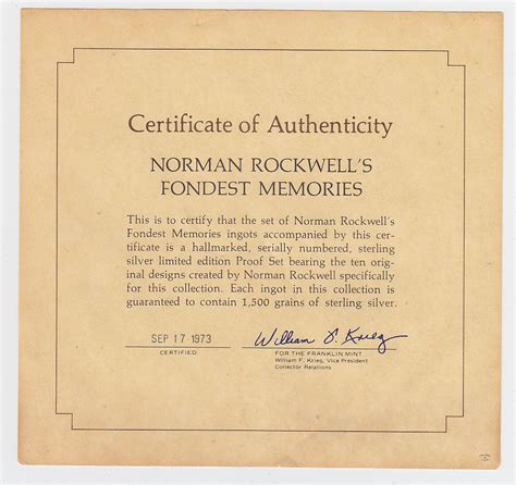 7 Of My Fondest Memories by Norman Rockwell S Fondest Memories Ingot Collection